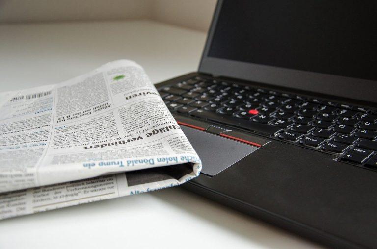 news, newspaper, computer